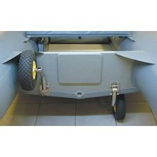 Стандартные откидные колёса транцевые (для пайольных лодок)