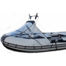 Носовой тент прозрачный с таргой для лодки длиной от 220 до 300см