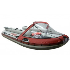 Носовой тент прозрачный для лодки длиной от 220 до 300см