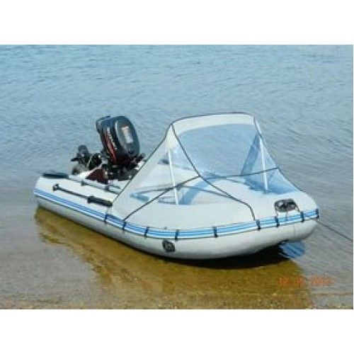 Тент носовой прозрачный для лодки  Лидер 380