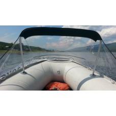 Носовой тент прозрачный для лодки длиной от 405 до 440 см