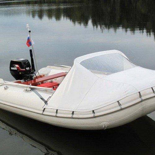 Тент носовой с окном для лодки Баджер 340CL