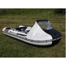Тент носовой с окном для лодки Посейдон Касатка 365