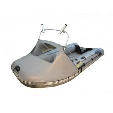 Носовой тент с окном и таргой для лодки длиной от 220 до 300 см